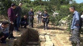 ▲湖南長沙挖出的康熙年間古墓。(圖/翻攝微博)