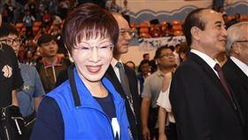 國民黨前主席洪秀柱出席國民黨全代會。 (圖/記者林敬旻攝)