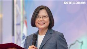 蔡英文出席「國際同濟會台灣總會第46、47屆總會長交接暨總會理監事就職典禮」。(圖/總統府提供)