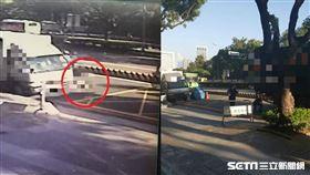台中死亡車禍,18歲女騎士遭輾斃/翻攝畫面