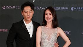 鄭仁碩、小薰出席2019台北電影節頒獎典禮。(記者邱榮吉/攝影)