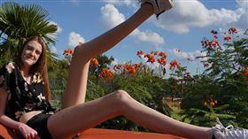 金氏紀錄,長腿,Maci Currin,美國/翻攝youtuube-Guinness World Records