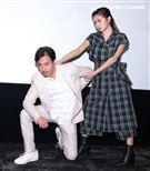 天巡者」演員尹昭德、簡廷芮。(記者邱榮吉/攝影)
