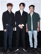 「天巡者」演員王碩瀚、陳璽安、張洛偍。(記者邱榮吉/攝影)
