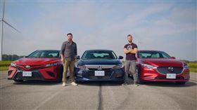 ▲Toyota Camry TRD VS Honda Accord Touring VS Mazda 6 Signature(圖/翻攝自Throttle House Youtube)
