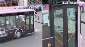 國慶大會預演,黑鷹直升機垂降特勤,維安特勤裝甲車撞破公車破璃,維安攻堅