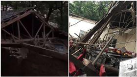 翁慶80歲大壽 下秒餐廳坍塌…26親友全被埋(圖/翻攝自梨視頻、微博)