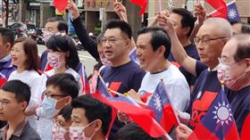 國民黨自辦國慶升旗(圖/翻攝立法委員葉毓蘭臉書)