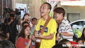 浩子、顏永烈網路新節目《鬧著玩視界旅遊 Nowyouon》首映會。記者林士傑攝影