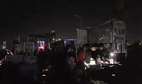 台中最大夜市第2天大跳電 原因曝光(圖/翻攝畫面)
