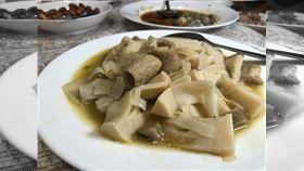 喪宴菜,酸筍炒大腸,美食文化作家黃婉玲(圖/翻攝自黃婉玲的烹飪教室)