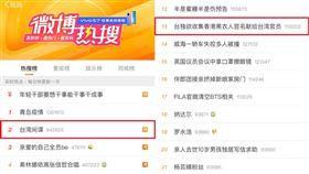 微博熱搜「台獨」霸榜!前30佔6個…中國網友驚:太反常(圖/翻攝自微博)