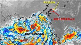 東北風增強再加上南卡颱風的外圍水氣,導致北部、東北部大雨不斷。(圖/翻攝自天氣職人-吳聖宇)