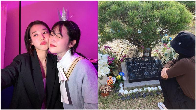 雪莉過世1年!摯友墓前淚崩:對不起