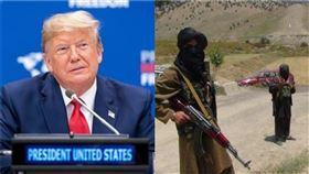 阿富汗民兵組織塔利班雖公開表態力挺美國總統川普連任,美軍照樣派出轟炸機空襲塔利班的根據地,炸死了80位民兵(示意圖/翻攝臉書、推特)
