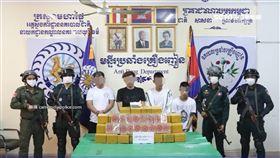 柬埔寨毒品案! 4台灣男被逮 另1人逃跑時摔死(圖/翻攝自柬埔寨國家警察局)