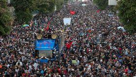 泰國反政府示威抗議(圖/翻攝自推特)