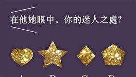 憑直覺選出圖中你喜歡的閃亮星星,選好才可以往下看解答喔。(圖/菁菁夫人提供)