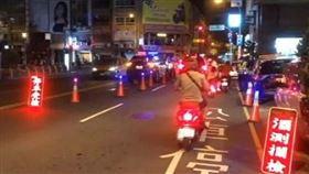 臨檢,路檢,台中市警察,警車(圖/翻攝畫面)