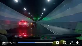 ▲大陸民眾隧道惡意「剪車」。(圖/翻攝自MONDEO車友會臉書)