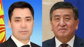 中亞國家吉爾吉斯的總統秦貝科夫(右)在選後危機中請辭,新總理賈帕洛夫(左)宣布掌權。(左圖取自facebook.com/japarov.sadyr、右圖取自維基共享資源網頁;作者Government.ru,CC BY 4.0)
