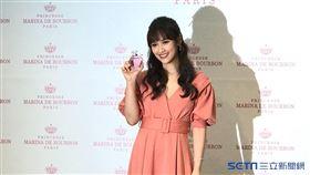 Sandy吳姍儒今(16日)出席香水代言活動。圖/記者方佳琳攝影