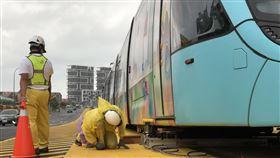 淡海輕軌第一期藍海線(新北市政府捷運工程局提供)