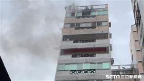 台中大樓火警/翻攝畫面
