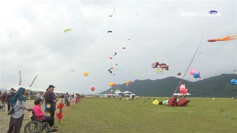 節電放風中!台電「5米大風箏」華麗升空 嗨翻桃園