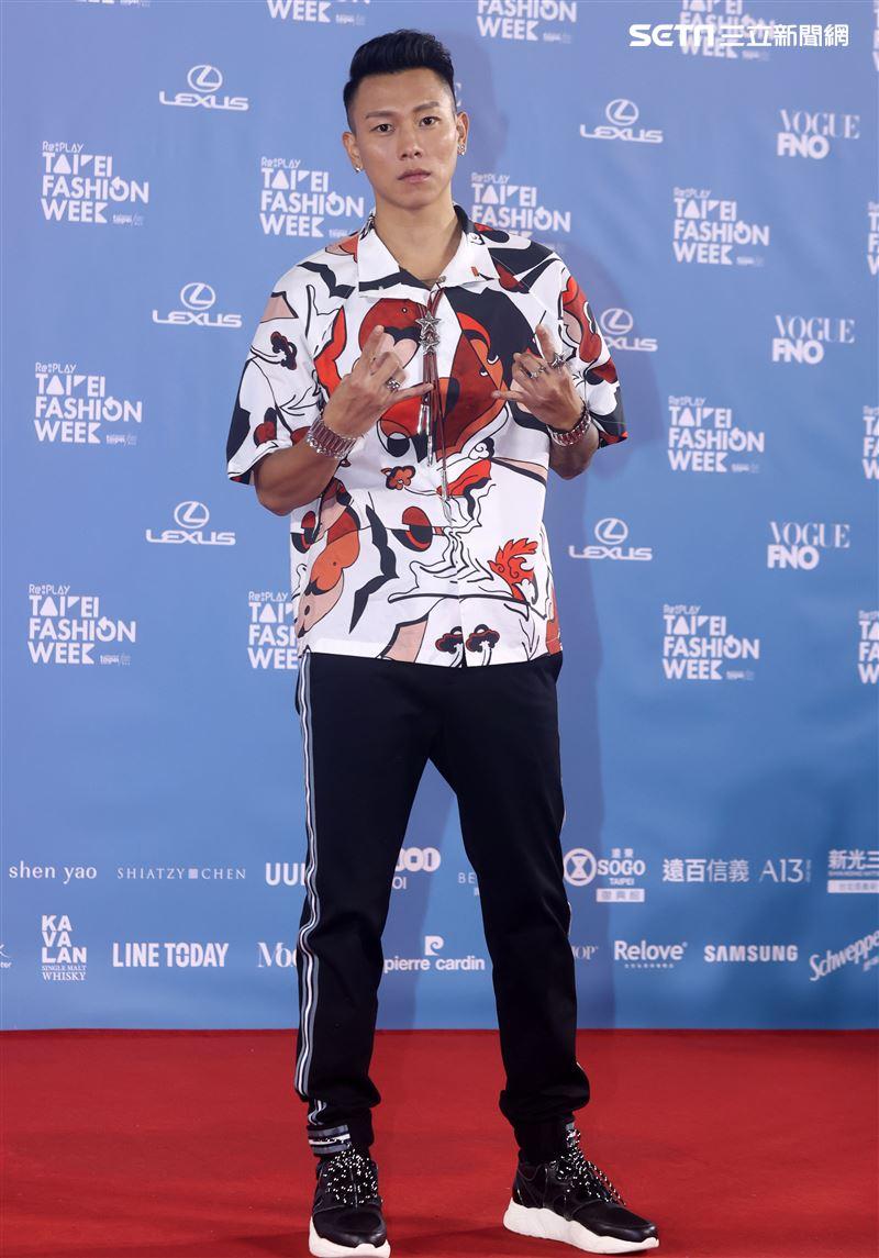 ESO瘦子出席「2020臺北時裝週」壓軸時尚大秀。(記者邱榮吉/攝影)