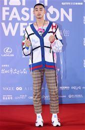 章廣辰出席「2020臺北時裝週」壓軸時尚大秀。(記者邱榮吉/攝影)