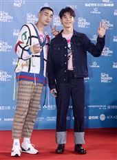 章廣辰、許光漢出席「2020臺北時裝週」壓軸時尚大秀。(記者邱榮吉/攝影)