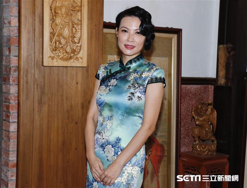 陳孝萱出席大稻埕國際藝術節快閃音樂會。(圖/記者林聖凱攝影)