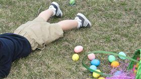 小男孩,玩耍,草地,男童(PIXABAY)
