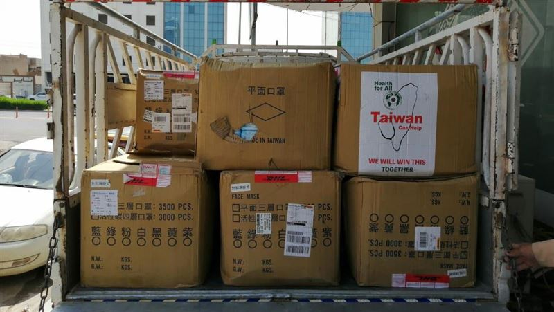 台灣正在幫忙!援贈伊斯蘭國重建區10萬枚口罩