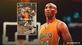 NBA/洛城喊X柯比 他被湖迷圍毆 NBA,洛杉磯湖人,Kobe Bryant,總冠軍,圍毆 翻攝自推特ClutchPoints