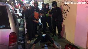 台北市西門町驚傳男子遭當街砍殺事件。(圖/記者楊忠翰攝影)