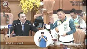 侯友宜,林銘仁,質詢(圖/翻攝自新北市議會直播)
