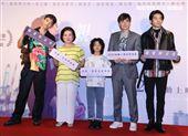 王可元(由左至右)陳淑芳、白潤音、是元介、姚淳耀出席「親愛的房客」首映會。(記者邱榮吉/攝影)