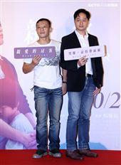 楊雅喆、導演鄭有傑出席「親愛的房客」首映會。(記者邱榮吉/攝影)