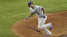 ▲席格(Corey Seager)季後賽敲出游擊手最多7發全壘打。(圖/美聯社/達志影像)
