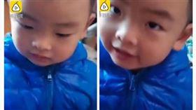 中國,河南,幼稚園,男童,油條,口袋,貼心(圖/翻攝自梨視頻)