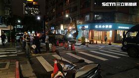 台北市大安區傳出瓦斯外漏意外。(圖/翻攝畫面)