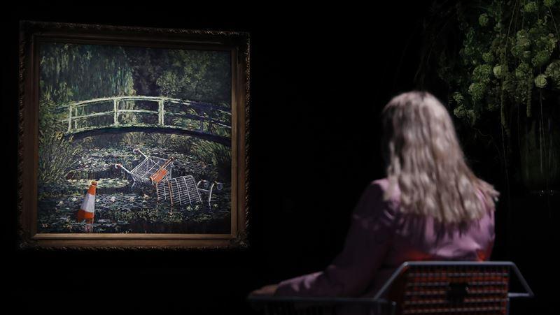 塗鴉藝術家班克西仿莫內畫作 逾2.84億元成交