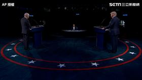美國,總統大選,辯論,川普,拜登,消音。(圖/AP授權)
