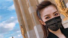謝金燕,中衛,口罩,蕾絲(翻攝自 謝金燕 臉書)