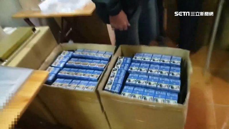 獨/警攻堅破私菸製造工廠 1萬8千包市值126萬