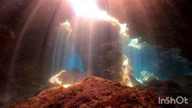 綠島潛水秘境。(圖/潛水教練林伯冠授權提供)