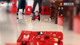 中國,嬰兒,抓周,天才(圖/翻攝自微博)