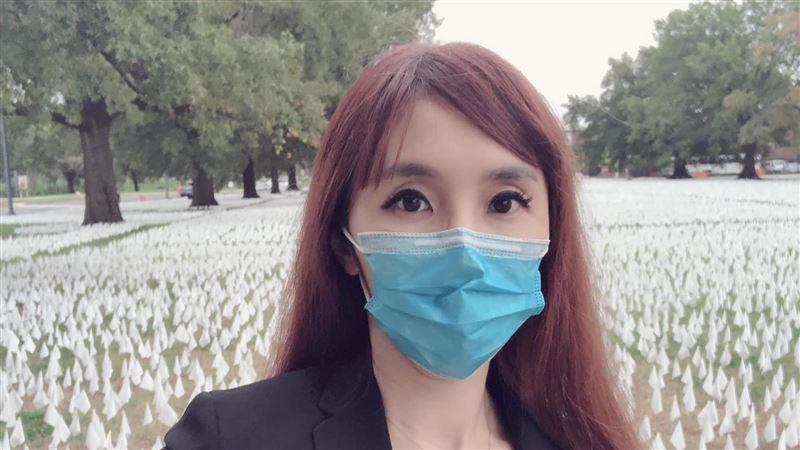 怵目驚心!主播黃倩萍直擊華府插16萬面白旗:台灣很幸福
